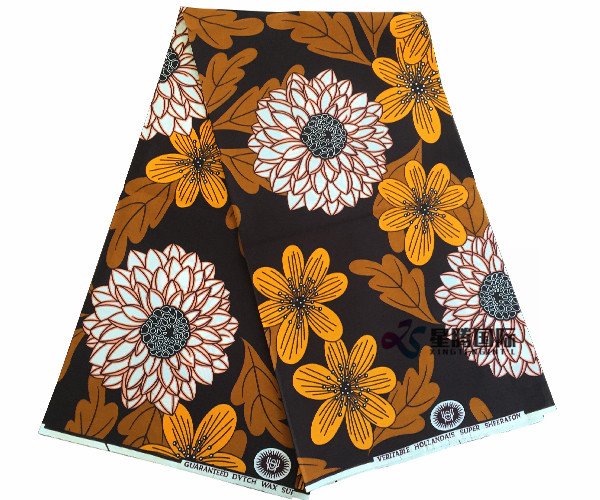Imitation Wax Printed Textile For Women Dress