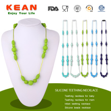 Best Quality for Round Beaded Baby Teething Necklace Silicone Baby Teething Jewellery Bead Necklace supply to Netherlands Factories