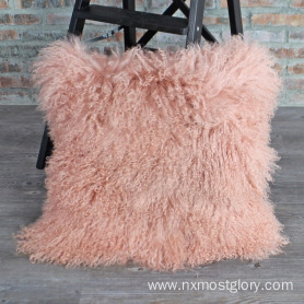 mongolian lamb fur pillow cases