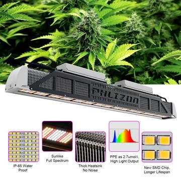 Reka bentuk Fluence 240w 480W LED Grow Light Bar