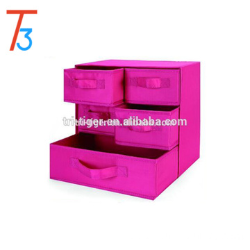 3 Shelf 5 Drawer Underwear Socks Sundries Folding Fabric Drawer Foldable Canvas Storage Box