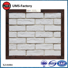 Faux white brick pattern interior wall tiles