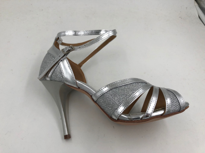 Womens Silver Latin Shoes