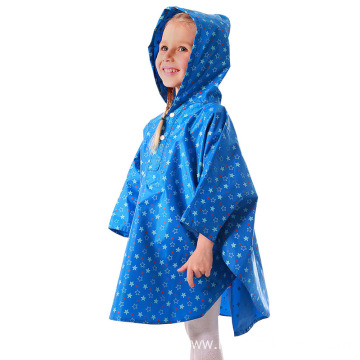 Waterproof Blue Children Polyester Rain Poncho