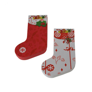Custom Design Sock Shaped Christmas Gift Box