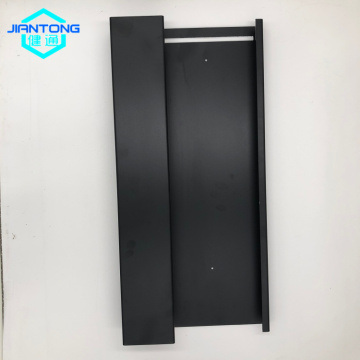 black matt powder coated steel base with bending