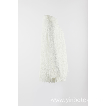 Outerwear in white texture fabric