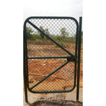 Green PVC Coated Chain Link Fence Netting