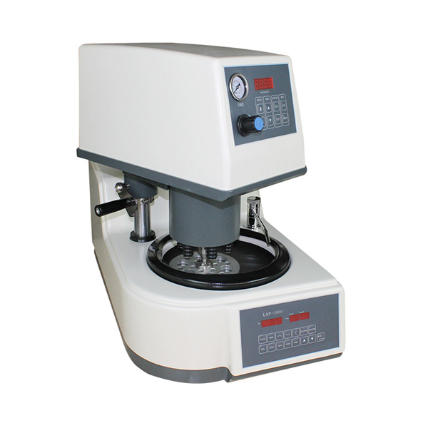 Metallographic grinding and polishing machine for glass