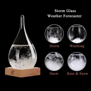 Tear Drop Shaped Glass Storm Weather Predictor Weather Forecast