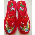 Hand Embroidered Lovers Slipper