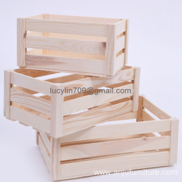Wooden storage crates