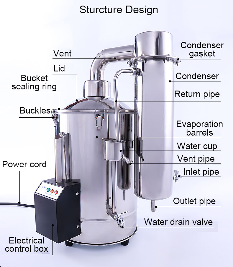 Automatic Cuts Off Water Distiller