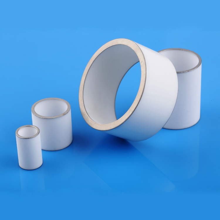 Metalized ceramic tube