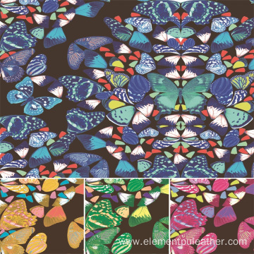 Printed Synthetic Fabric Faux Leather For Bag