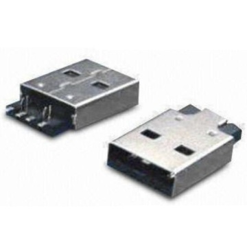 USB A Type Plug SMT Sink With Fork