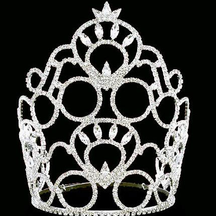 new design rhinestone and crystal flower girl tiara