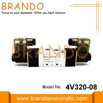 4V320-08 5 Port Pneumatic Electric Solenoid Valve