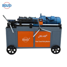 Steel rod threading machine
