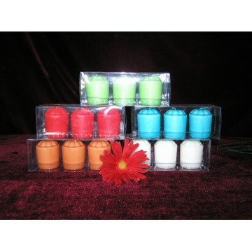 Premium Colorful Unscented Votive Candles in Clear Elegant Glass