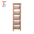 natural colour solid wooden furniture cabinet with many drawers
