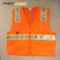 cheap traffic safety vest with mesh fabric ,multi pockets in front , ANSI/ISEA 107-2010 CLASS 2