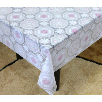 Printed plastic pvc lace tablecloth by roll