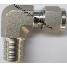 Metal Tube Ferrule Elbow Male NPT Thread Fitting