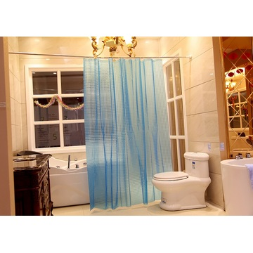 Shower Curtain PEVA Blue Semitransparent Design