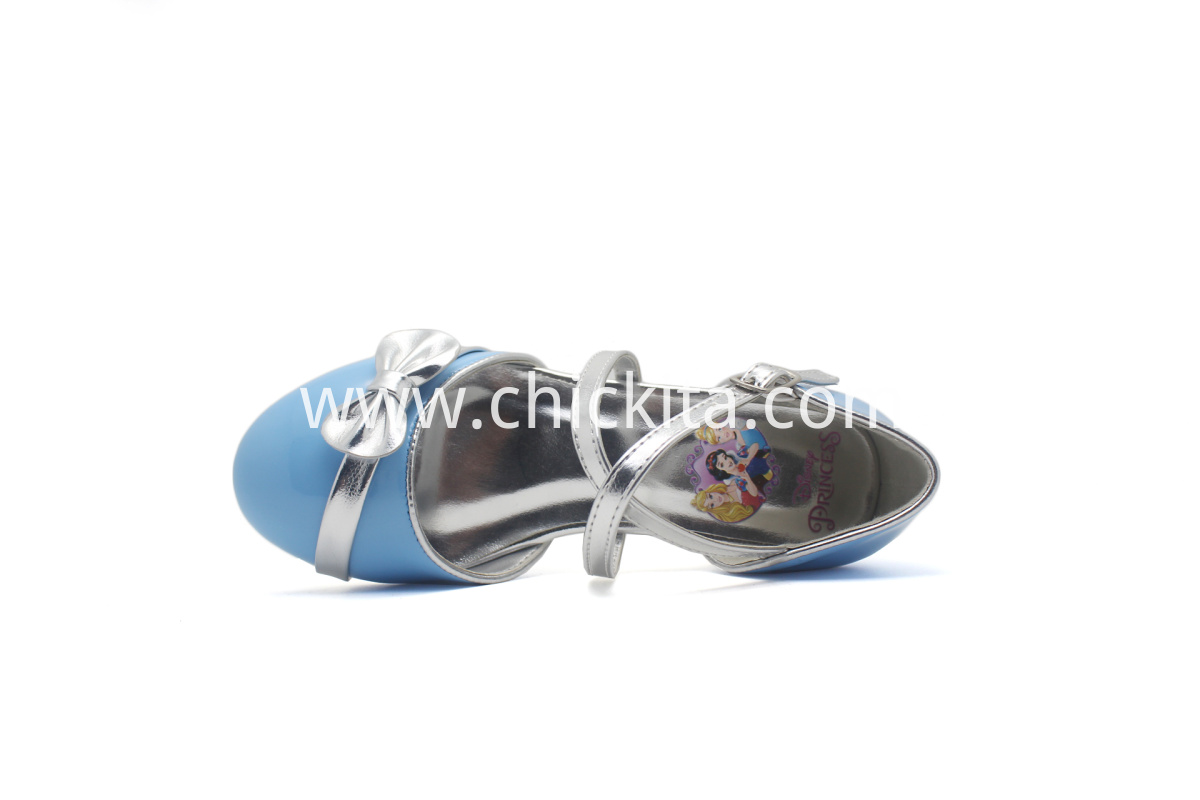 Bow Decorates Cross Stripes Party Shoes