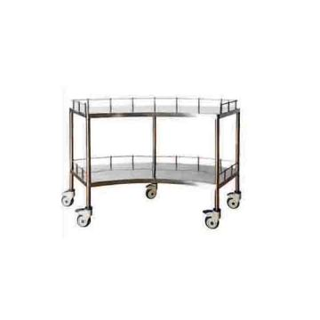 Stainless steel fan-shaped equipment trolley
