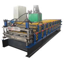 Automatic double corrugated and IBR roofing sheet machine