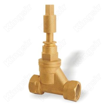 Gennem Way Messing Globe Valve