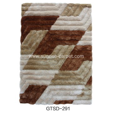 Elastic&Silk Shaggy Carpet with Design