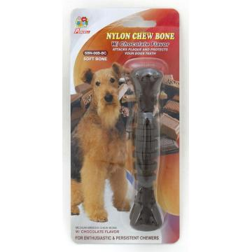 "Percell 6"" Nylon Dog Chew Spiral Bone Chocolate Scent"