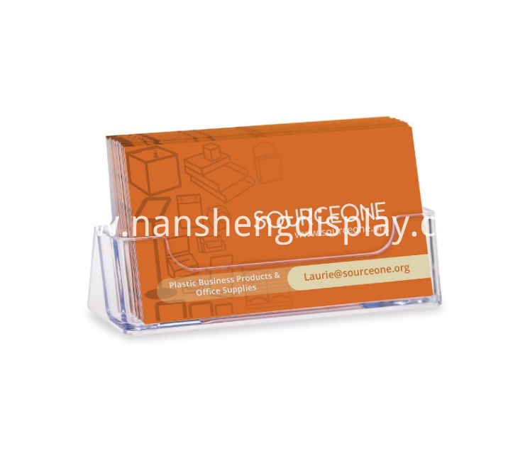 Clear Plastic Business Card Holder Display Counter