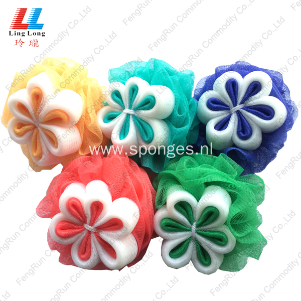 bath pouf exfoliating Shower bath sponge