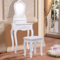 Cosmetics Dressing Table with drawers and stool Wooden Furniture