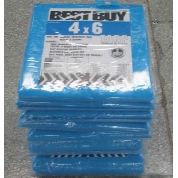 PE tarpaulin Fabric Blue Color