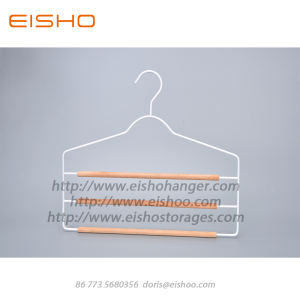 Super Purchasing for Wire Clothes Hangers EISHO Slim 3 Layer Metal Trouser Hanger export to Indonesia Exporter