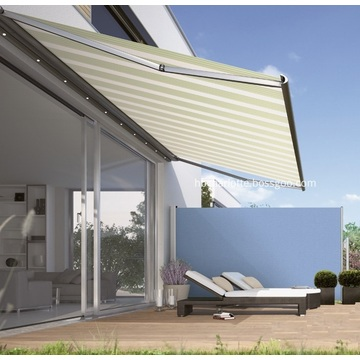 Garden screen side awning