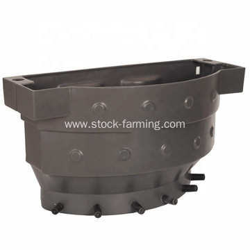 Plastic calf feeding bucket for cow farm equipment