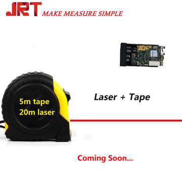 Laser tape measuring tool