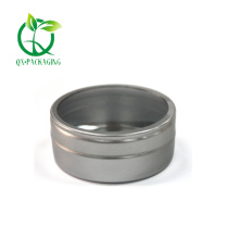 Silver round tin with window for sale