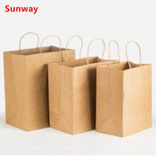 Recycled kraft color shopping bags