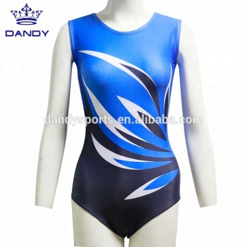 Professional High Quality for China Kids Gymnastics Leotards,Girls Gymnastics Leotards,Dance Leotards For Girls Manufacturer custom sublimated kids training gym leotard export to Guam Exporter