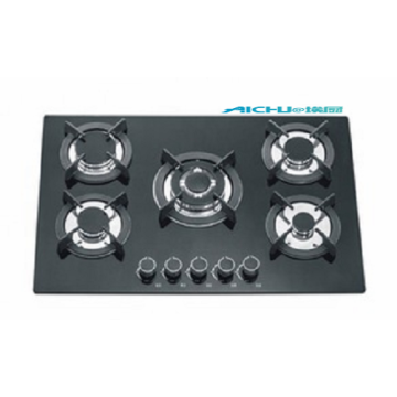 5 Burners Tempered Glass Surface Gas Hob