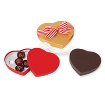 Fancy empty chocolate packaging heart shaped chocolate box