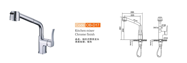 Monobloc Kitchen Mixer Tap Ob D17