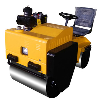 Tandem double drum road roller compactor